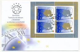 ROUMANIE - BF Adhésion à L'Union Européenne - Bucarest 25/04/2005 - Covers & Documents