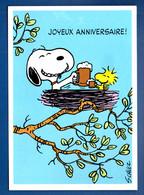 """ILLUSTRATEUR . CHARLES MONROE SCHULZ . SNOOPY . PEANUTS . """" JOYEUX ANNIVERSAIRE """" - Réf. N°30024 - - Comics"""