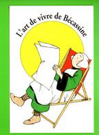 """DESSIN DE DOMITILLE HÉRON . """" L'ART DE VIVRE DE BÉCASSINE """" . BÉCASSINE SE REPOSE - Réf. N°30027 - - Comics"""