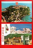 """MONACO . """" LE ROCHER """" & """" MULTI-VUES """" . 2 CPM - Réf. N°30034 - - Collections & Lots"""
