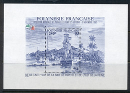 French Polynesia 1985 ITALIA '85 Sailing Ship MS MUH - Unused Stamps