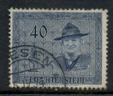 Liechtenstein 1953 Lord Baden Powell, Scouts 40rp FU - Gebraucht