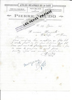 02 - Aisne - VERMAND - Facture NAUDO - Charpente, Menuiserie, Meubles - 1925 - REF 295A - 1900 – 1949