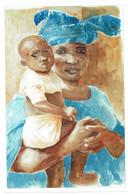 Mali - Solidarité Avec Les écoles De Koulikoro - Mère Et Son Enfant - Dessin De Sylvie Jean - Mali