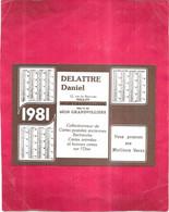 GRANDVILLIERS  - 60 - Calendrier PUB DELATTRE DANIEL Collectionneur Cartes Postales - 100421 - - Other Municipalities