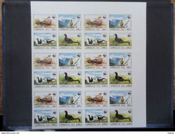 Azerbaijan 1994  PROOF Imperforated WWF Birds VF Last One Sheet - Other