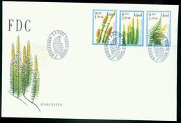 Fd Aland Islands FDC 2001 MiNr 187-189   Plants. Swamp Horsetail. Stiff Clubmoss. Polypody - Aland