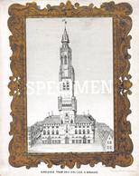 Porceleinkaart - Ancienne Tour Des Halles  - Brugge - Bruges - 15.5x12cm - Brugge