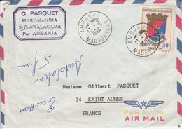 MADAGASCAR  SEUL SUR LETTRE POUR LA FRANCE 1968 - Madagascar (1960-...)