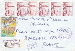 ALGERIE AFFRANCHISSEMENT COMPOSE SUR LETTRE RECOMMANDEE POUR LA FRANCE 2000 - Algeria (1962-...)