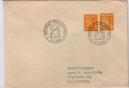 Fabrication De Papier Oblitération Temporaire Helsinski 9 Septembre 1955 - Environment & Climate Protection