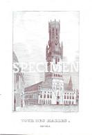 Porceleinkaart -  Tour Des Halles - Brugge - Bruges - 25x17.5cm - Brugge