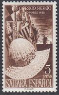 Spanish Sahara 1952 - 500th Anniv. Of The Birth Of King Ferdinand V The Catholic, Hat, Sword - Mi 128 ** MNH [1355] - Sahara Espagnol