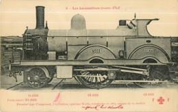 Cie ETAT - Machine 1er Type Compound Construite En 1884 - Les Locomotives  , Ed. Fleury - 2 Scans - Equipment