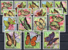 BURUNDI - N° 274/289 - 1968 - Papillons (oblitérés / Used) - 1962-69: Oblitérés
