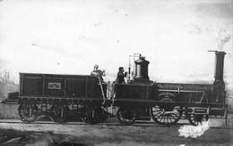 """¤¤   -  Carte-Photo D'une Locomotive Ancienne """" FONTAINEBLEAU """" Du Paris-Lyon N° 124      -  ¤¤ - Equipment"""