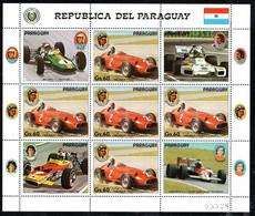 Paraguay 4297 KB Kleinbogen Mnh ** Voiture Car Auto Maserati Fangio - Paraguay