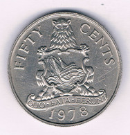 50 CENTS 1978 BERMUDA /3010/ - Bermuda