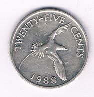 25 CENTS 1988 BERMUDA /3011/ - Bermuda
