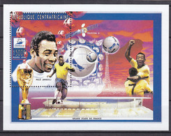 Soccer World Cup 1998 - SPACE - C.-AFRICA - S/S MNH - 1998 – Francia