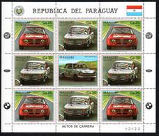 Paraguay 4094-4095 KB Kleinbogen Mnh ** Voiture Car Auto Alfa Romeo BMW Ford - Paraguay