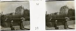 Lot De 4 Plaques De Verre Stéréo Positives En Mai 1911 Châteauroux Chateau Raoul  -- Bte A1 - Chateauroux