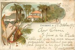Pays Div- Ref Y326- Guinée - Conakry -editeur Colin -/ Timbres Proprement Décollés Du Cliché - - French Guinea