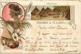 Pays Div- Ref Y325- Guinée - Conakry -editeur Colin -/ Etat:quelques Legeres Tache Et Leger Pli Haut Droit  - - French Guinea