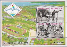 ALAND 1991 Mi-Nr. Block 1 O Used - Aus Abo - Aland