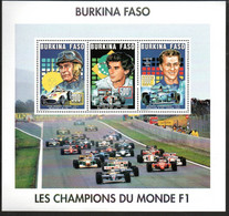 Burkina Faso 1363,1365,1366 Im KB Kleinbogen  Mnh ** Fangio Senna Schumacher - Burkina Faso (1984-...)