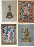 TIBET ART 16 Postcards With Holder 1986 #A41 - Tibet