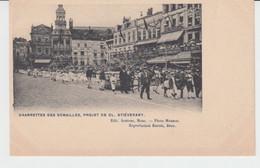Mons Fête Des Fleurs 1905 Charrette Des Semailles Projet De Cl. Stiévenart Grand Place - Mons