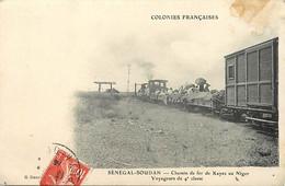 Pays Div- Ref Y312-senegal -soudan - Trains - Train Ligne De  Chemin De Fer De Kayes Au Niger - - Niger