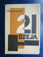 """Latvian P.Vilips SIGNED AVANT GARDE E.Kalis Cover Book """" 21 Poetry"""" Y1930 - Other"""