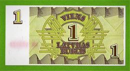 LETTONIE / 1 LATVIJAS RUBLIS / 1 ROUBLE LETTON - Latvia