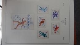 S80 Collection De RUSSIE En Reliure LEUCHTTURM En Timbres Et Blocs ** De 1980 à 1984 à Compléter.  A Saisir !!! - Collections (with Albums)