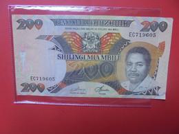 TANZANIE 200 SHILINGI 1986 Circuler - Tanzania