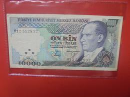 TURQUIE 10.000 LIRA 1970/82 Circuler - Turkey