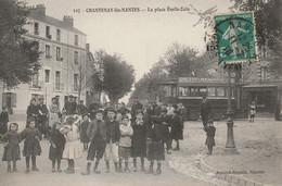 Chantenay-lès-Nantes : La Place Emile-Zola - Publicité Petit Beurre Lu - 1910 - Otros Municipios
