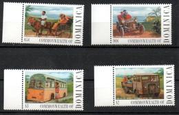 Dominica 2133-2136 Mnh ** Auto Car Voiture Bus Ford Eselskarren Taxi - Dominique (1978-...)