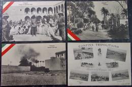 LIBYE LYBIA Italy - TRIPOLI Lot 4 Postcards - Libya