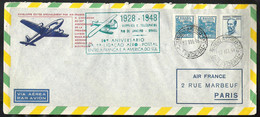 BRASIL 1948 20 Anniversary First Flight Between France And South America - Aéreo