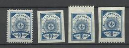 LETTLAND Latvia 1919 Michel 8 * = Various Types - Lettonia