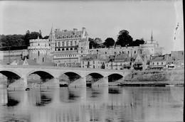 PN - 151 - INDRE ET LOIRE - AMBOISE - Le Chateau - La Loire - Original Unique - Glass Slides