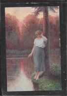 AK 0688  Liebscher , Ad. - Verlassen / Künstlerkarte Um 1910-20 - Peintures & Tableaux