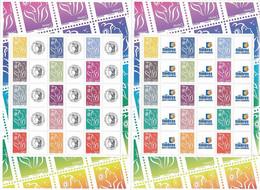 France 2007 - F4048A Deux Bloc Feuillet Marianne De Lamouche Personnalisé Avec Logo Cérès Et Timbres Personnalisés -Neuf - Personnalisés