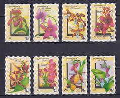 GRENADINES OF ST VINCENT 1990, Mi# 719-726, CV €22, Flowers, MNH - St.Vincent E Grenadine