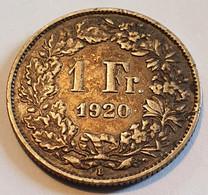 Switzerland 1 Franc 1920 - Switzerland