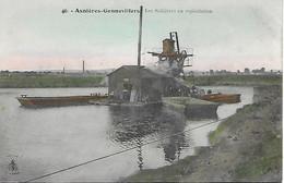 ASNIERES- GENNEVILLIERS -  LES SABLIERES EN EXPLOITATION - CARTE COLORISEE - Asnieres Sur Seine