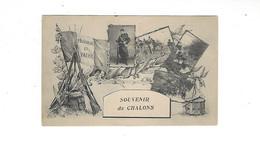 MILTARIA  SOUVENIR DE CHALONS   MULTIVUES        ****     A SAISIR **** - Camp De Châlons - Mourmelon